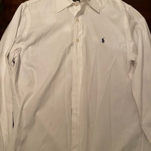 Men's Polo All White Button Down